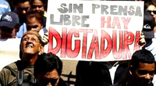 holocausto de los medios en Venezuela