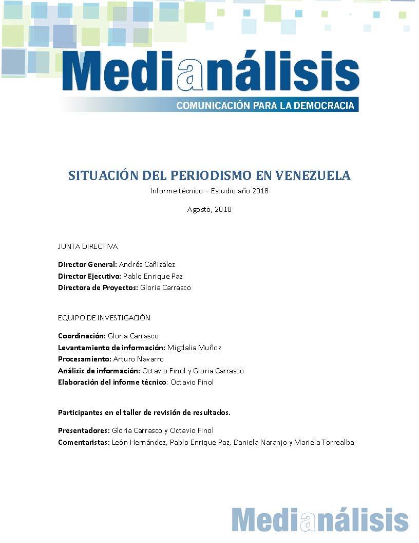 Situación del periodismo en venezuela