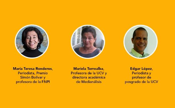 María Teresa Ronderos, Mariela Torrealba y Edgar López impartirán los talleres de la Escuela Cocuyo en Caracas
