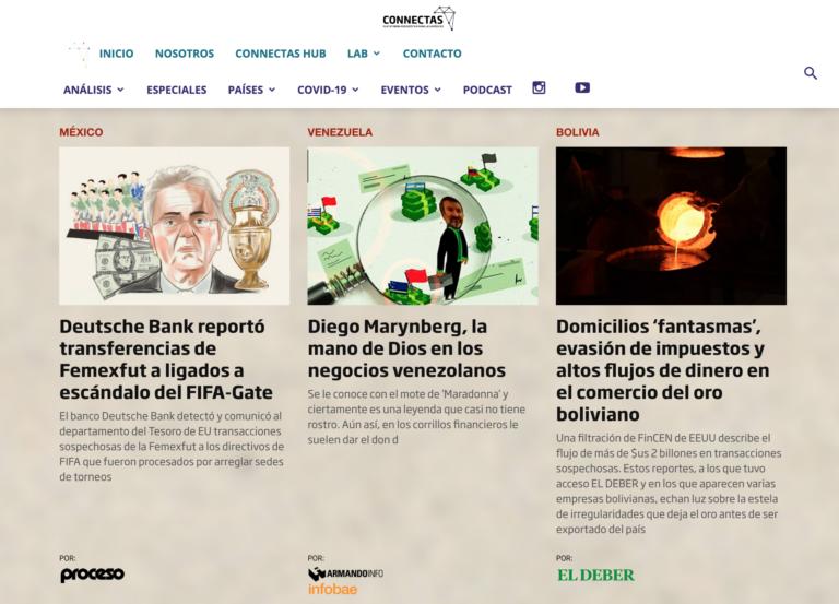 Connectas busca publicar las investigaciones de FinCEN Files publicadas en América Latina. (Captura de pantalla)